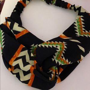 Aztec print headband